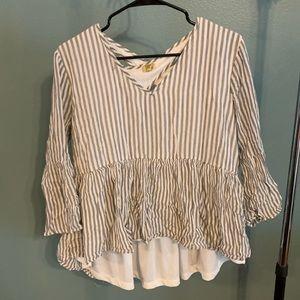True Craft Striped Blouse XL